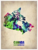 NAXART Studio - Canada Watercolor Map