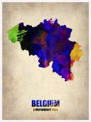 NAXART Studio - Belgium Watercolor Map