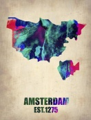 NAXART Studio - Amsterdam Watercolor Map