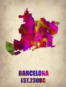 NAXART Studio - Barcelona Watercolor Map