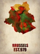 NAXART Studio - Brussels Watercolor Map