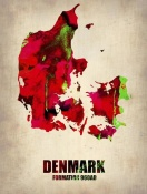 NAXART Studio - Denmark Watercolor Poster
