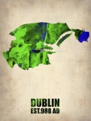 NAXART Studio - Dublin Watercolor Map
