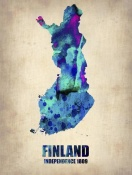 NAXART Studio - Finland Watercolor Poster