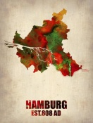 NAXART Studio - Hamburg Watercolor Map