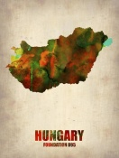 NAXART Studio - Hungary Watercolor Poster
