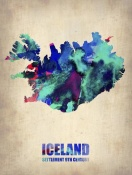NAXART Studio - Iceland Watercolor Poster