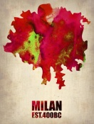NAXART Studio - Milan Watercolor Map
