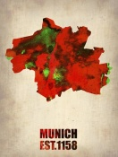 NAXART Studio - Munich Watercolor Map