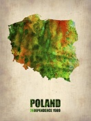 NAXART Studio - Poland Watercolor Poster