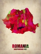 NAXART Studio - Romania Watercolor Poster