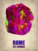 NAXART Studio - Rome Watercolor Map