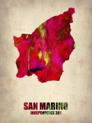 NAXART Studio - San Marino Watercolor Poster