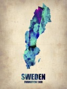NAXART Studio - Sweden Watercolor Poster