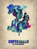 NAXART Studio - Copenhagen Watercolor Poster