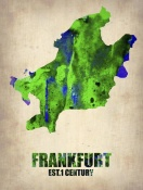 NAXART Studio - Frankfurt Watercolor Poster