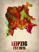 NAXART Studio - Leipzig Watercolor Poster