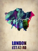 NAXART Studio - London Watercolor Poster