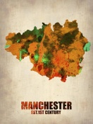 NAXART Studio - Manchester Watercolor Poster