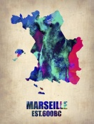 NAXART Studio - Marseille Watercolor Poster