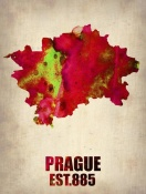 NAXART Studio - Prague Watercolor Poster