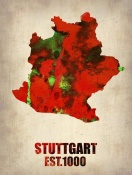 NAXART Studio - Stuttgart Watercolor Poster