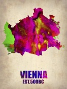 NAXART Studio - Vienna Watercolor Poster