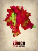 NAXART Studio - Zurich Watercolor Poster