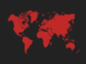 NAXART Studio - Dotted Red World Map