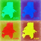 NAXART Studio - Atlanta Pop Art Map 2