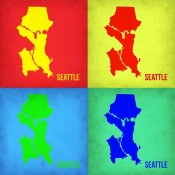 NAXART Studio - Seattle Pop Art Map 1
