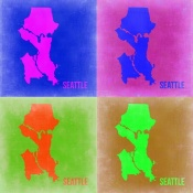 NAXART Studio - Seattle Pop Art Map 2