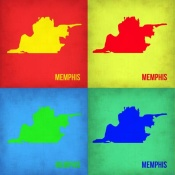 NAXART Studio - Memphis Pop Art Map 1