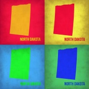 NAXART Studio - North Dacota Pop Art Map 1