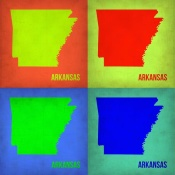 NAXART Studio - Arkansas Pop Art Map 1