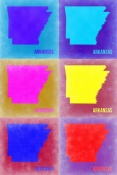 NAXART Studio - Arkansas Pop Art Map 2