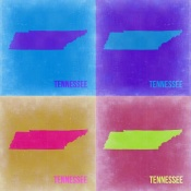 NAXART Studio - Tennesse Pop Art Map 2
