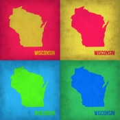NAXART Studio - Wisconsin Pop Art Map 1