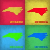 NAXART Studio - North Carolina Pop Art Map 1