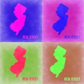 NAXART Studio - New Jersey Pop Art Map 2