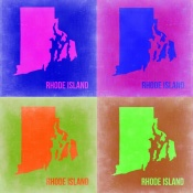 NAXART Studio - Rhode Island Pop Art Map 2