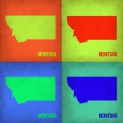 NAXART Studio - Montana Pop Art Map 1