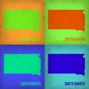 NAXART Studio - South Dakota Pop Art Map 1