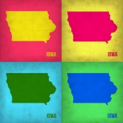 NAXART Studio - Iowa Pop Art Map 1