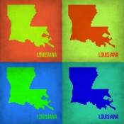 NAXART Studio - Louisiana Pop Art Map 1