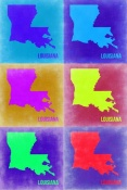 NAXART Studio - Louisiana Pop Art Map 2