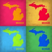 NAXART Studio - Michigan Pop Art Map 1