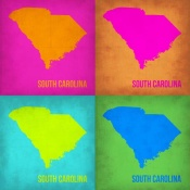 NAXART Studio - South Carolina Pop Art Map 1