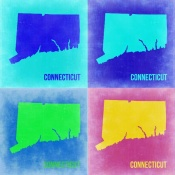 NAXART Studio - Connecticut Pop Art Map 2