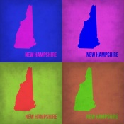 NAXART Studio - New Hampshire Pop Art Map 1